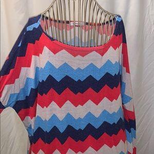 Long sleeve oversized blouse